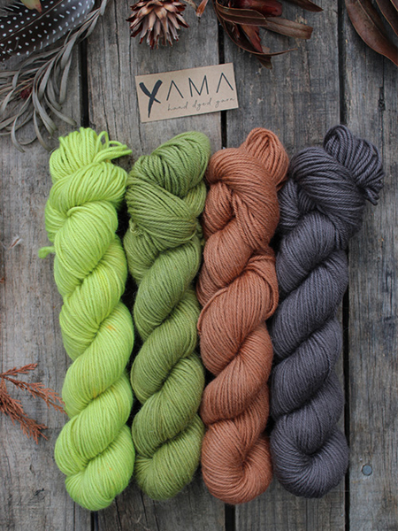 Picture of Yama DK Luxe Colourwork Kits (4 x 100gram skeins)